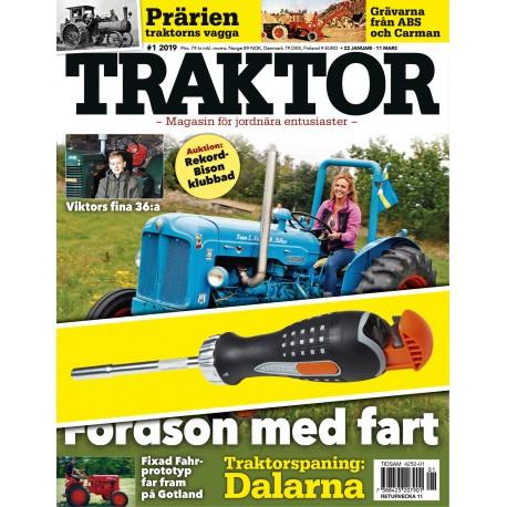 8 nr Traktor + Bahco spärrskruvmejsel