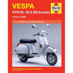 Vespa P/PX 125 150 and 200 scooters 1978 thru 2014 (Includes LML Star 2T)
