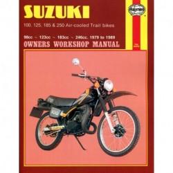 Suzuki 100 125 185 & 250 Air-cooled Trail bikes 1979 - 1989