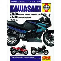 Kawasaki ZX600 (GPZ600R GPX600R Ninja 600R & RX) & ZX750 (GPX750R Ninja 750R) Fours 1985 - 1997