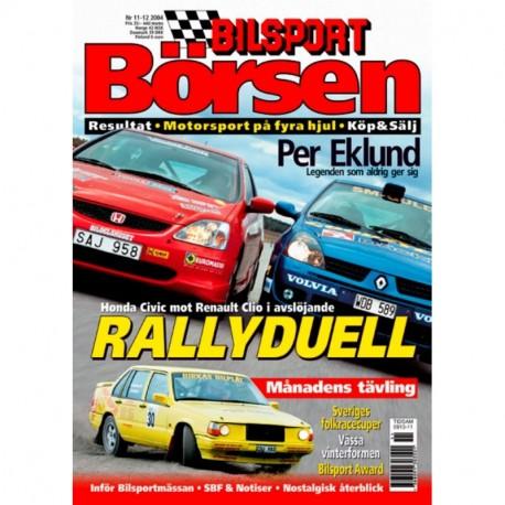 Bilsport Börsen nr 11  2004