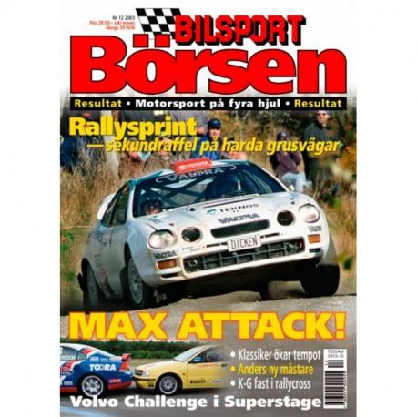 Bilsport Börsen nr 12  2003
