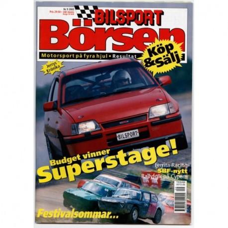 Bilsport Börsen nr 9  2003