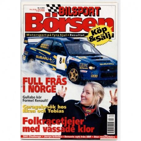 Bilsport Börsen nr 4  2003
