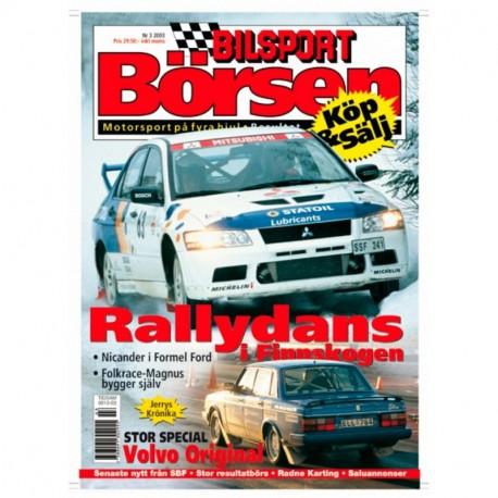 Bilsport Börsen nr 3  2003