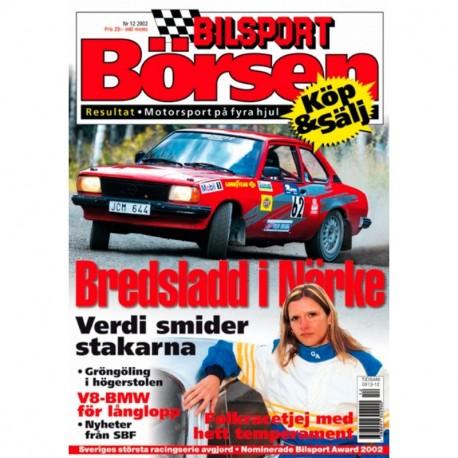Bilsport Börsen nr 12  2002
