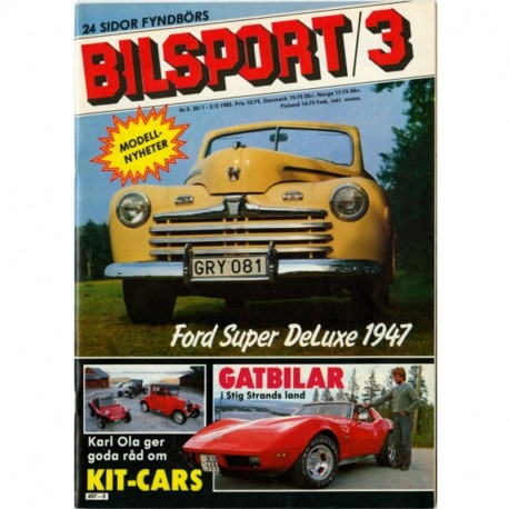 Bilsport nr 3  1983