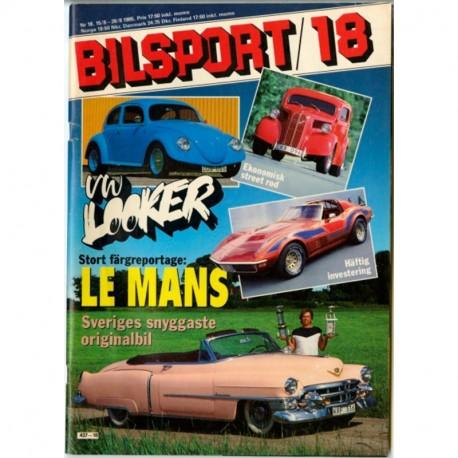 Bilsport nr 18  1985