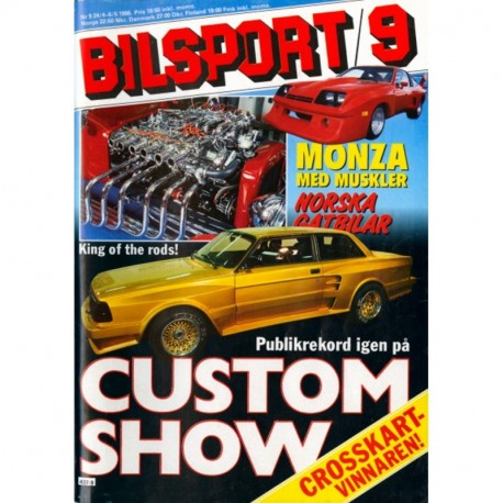 Bilsport nr 9  1986