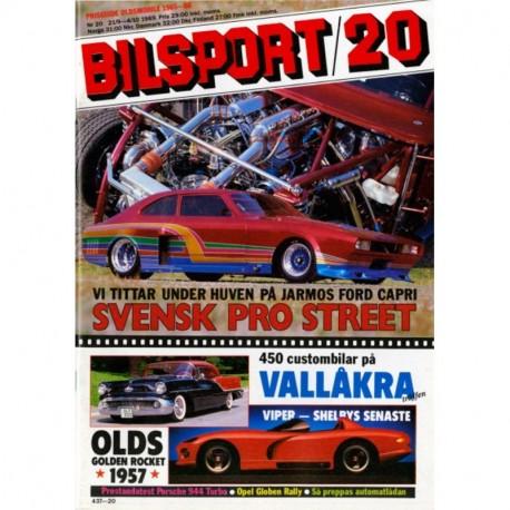 Bilsport nr 20  1989