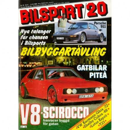 Bilsport nr 20  1986