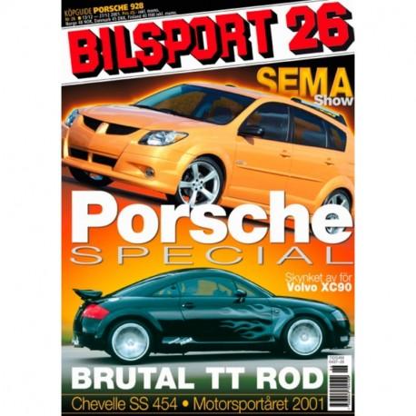 Bilsport nr 26  2001