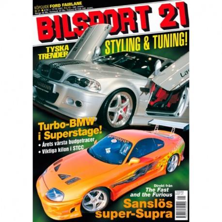 Bilsport nr 21  2001
