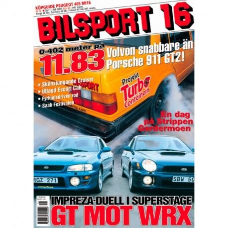 Bilsport nr 16  2001
