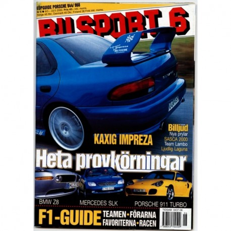 Bilsport nr 6  2000