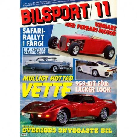 Bilsport nr 11  1987