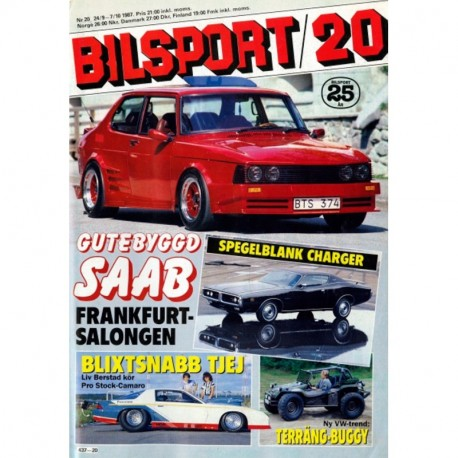 Bilsport nr 20  1987