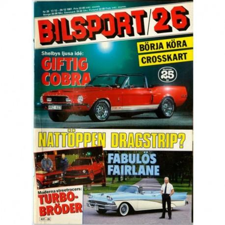 Bilsport nr 26  1987