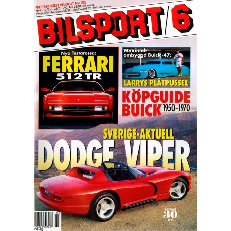 Bilsport nr 6  1992