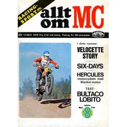 Allt om MC nr 11  1970