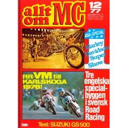 Allt om MC nr 12  1977